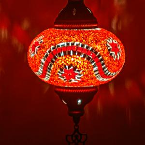 Oosterse Hanglamp Mozaiek Rood