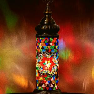 Mooie Tafellamp Cilinder Mozaiek