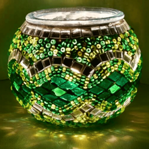 Waxinelichthouder Groen Glas